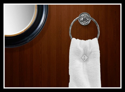 Set Sail-towel holder,Set Sail ToweLocs, boating accessories, head, galley, luxury towels, yachts